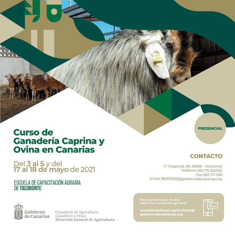 La Escuela de Capacitación Agraria de Tacoronte amplía su oferta de formación específica en ganadería caprina y ovina
